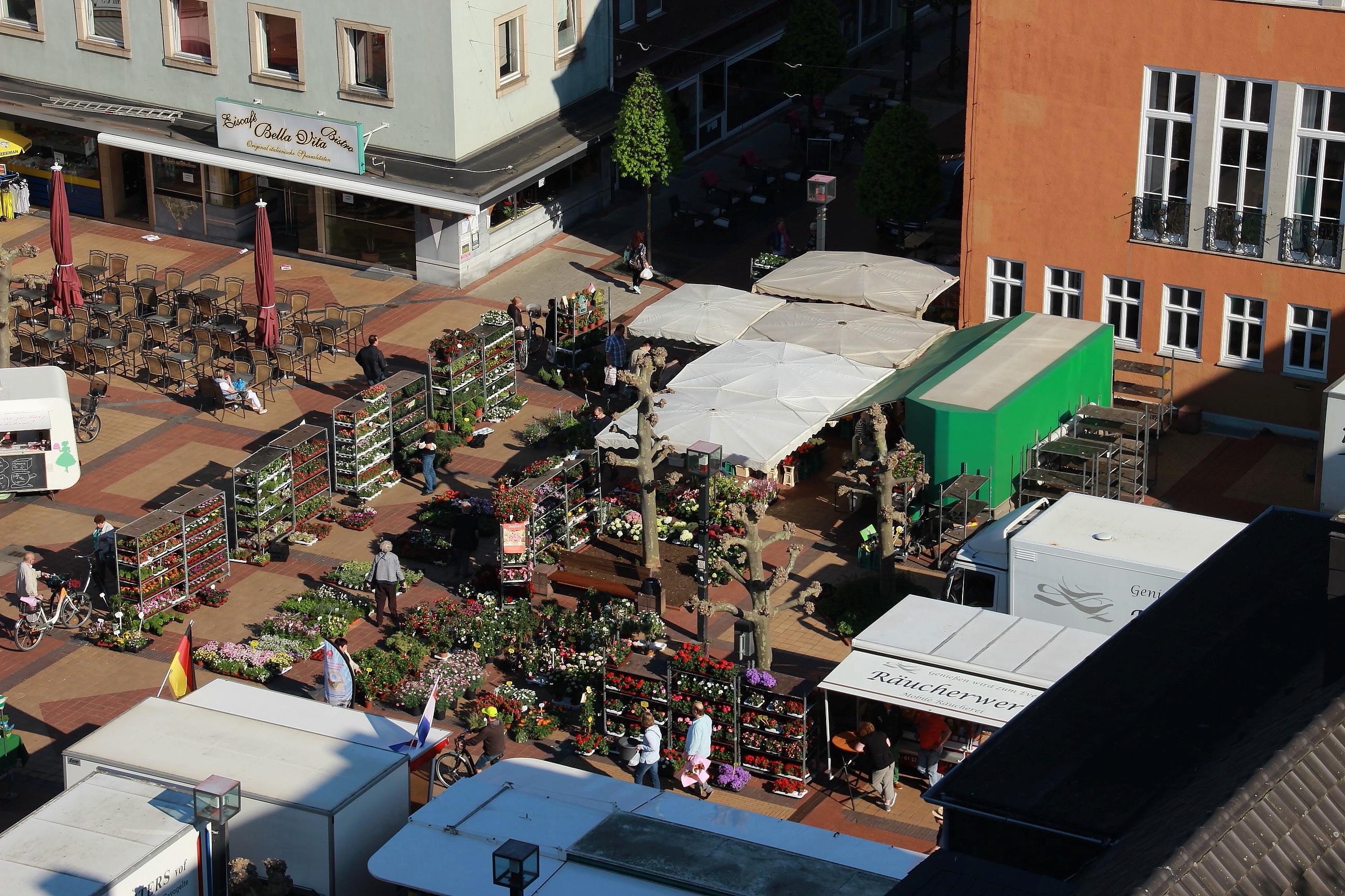 Blick auf den Marktplatz von oben