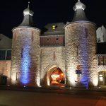 beleuchteter Hexenturm beim Lichtprojekt